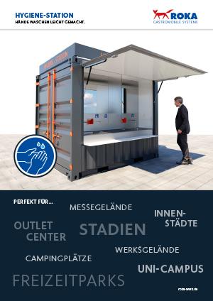 Bild vom Datenblatt der Hygienestation