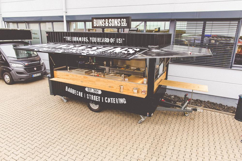 Imbisswagen für Burger, Streetfood und Catering.