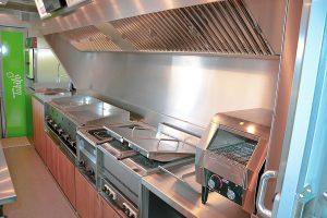 Food Truck Ausbau mit professionellen Geräten.