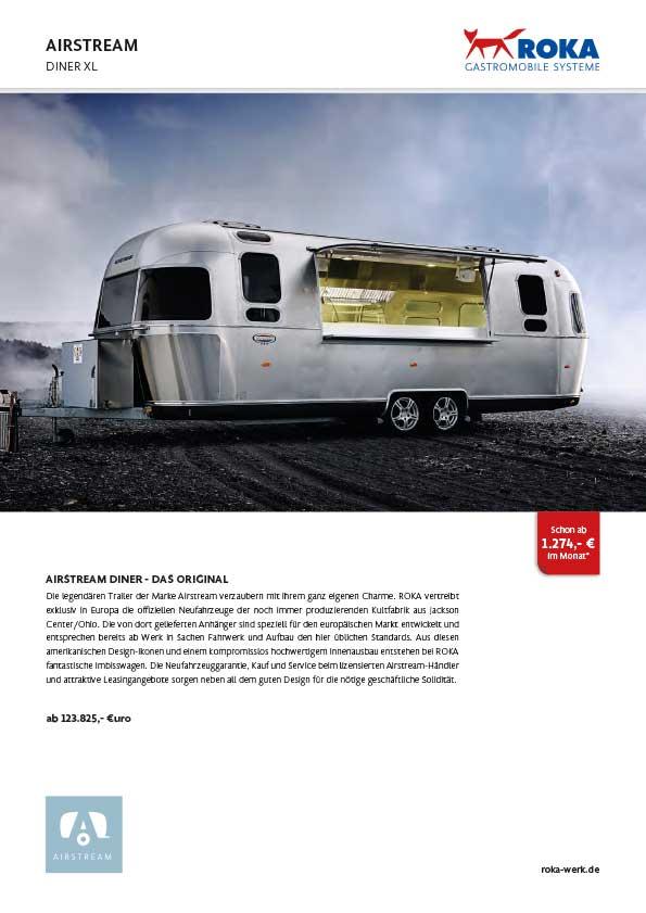 Infos & Preise zum Food Trailer Airstream Diner XL