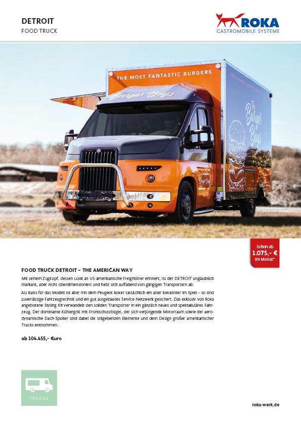 Food Truck DETROIT - Datenblatt