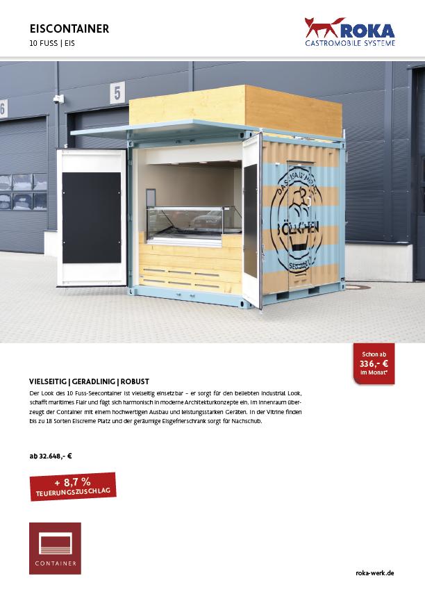Bild vom Datenblatt des Eis-Container