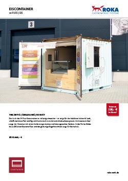 Datenblatt für den Eiscontainer