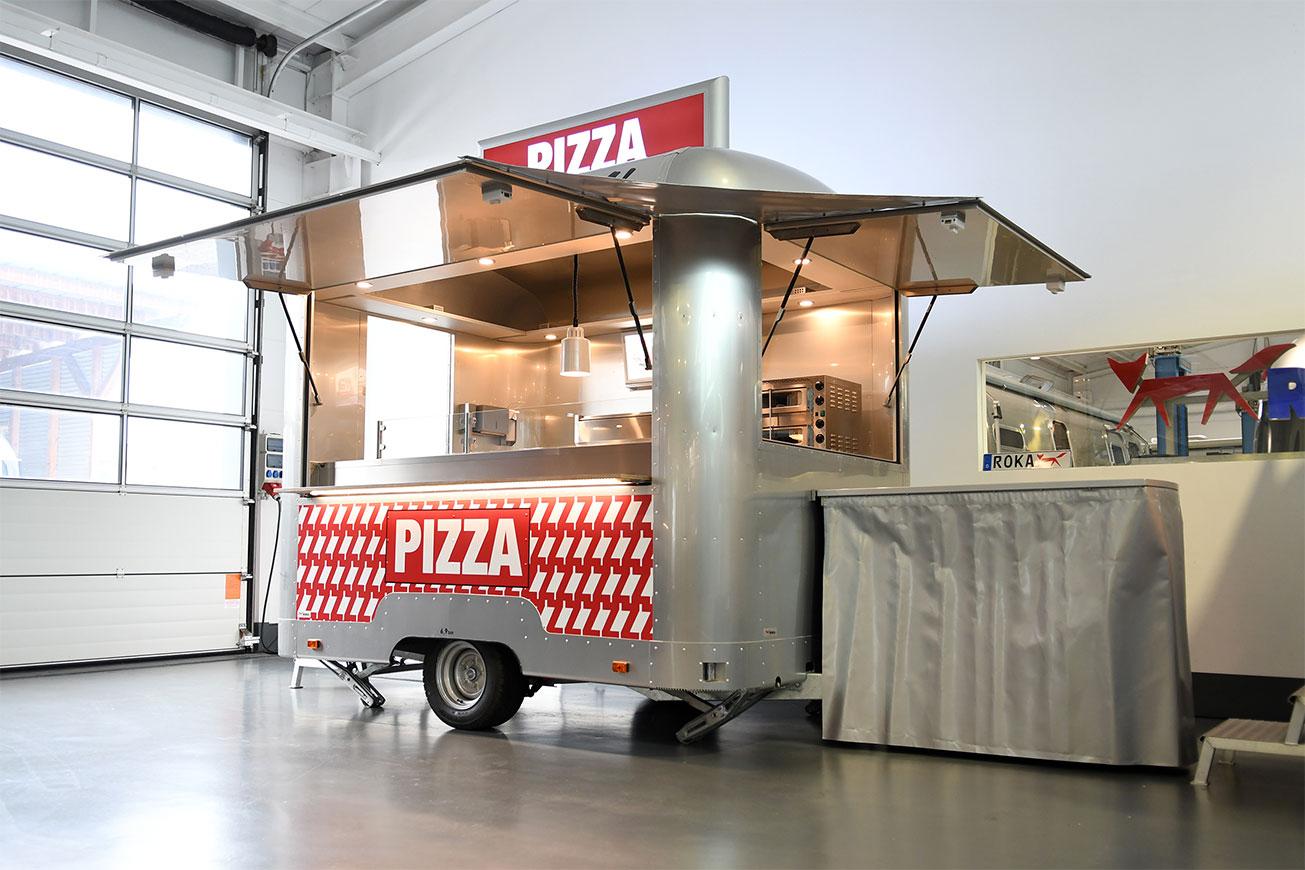 Verkaufsanhänger als Pizzamobil mieten!