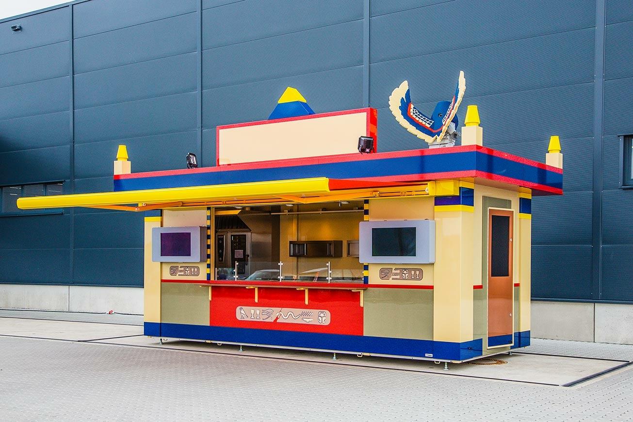 Verkaufscontainer für Gastronomie im Freizeitpark LEGOLAND.