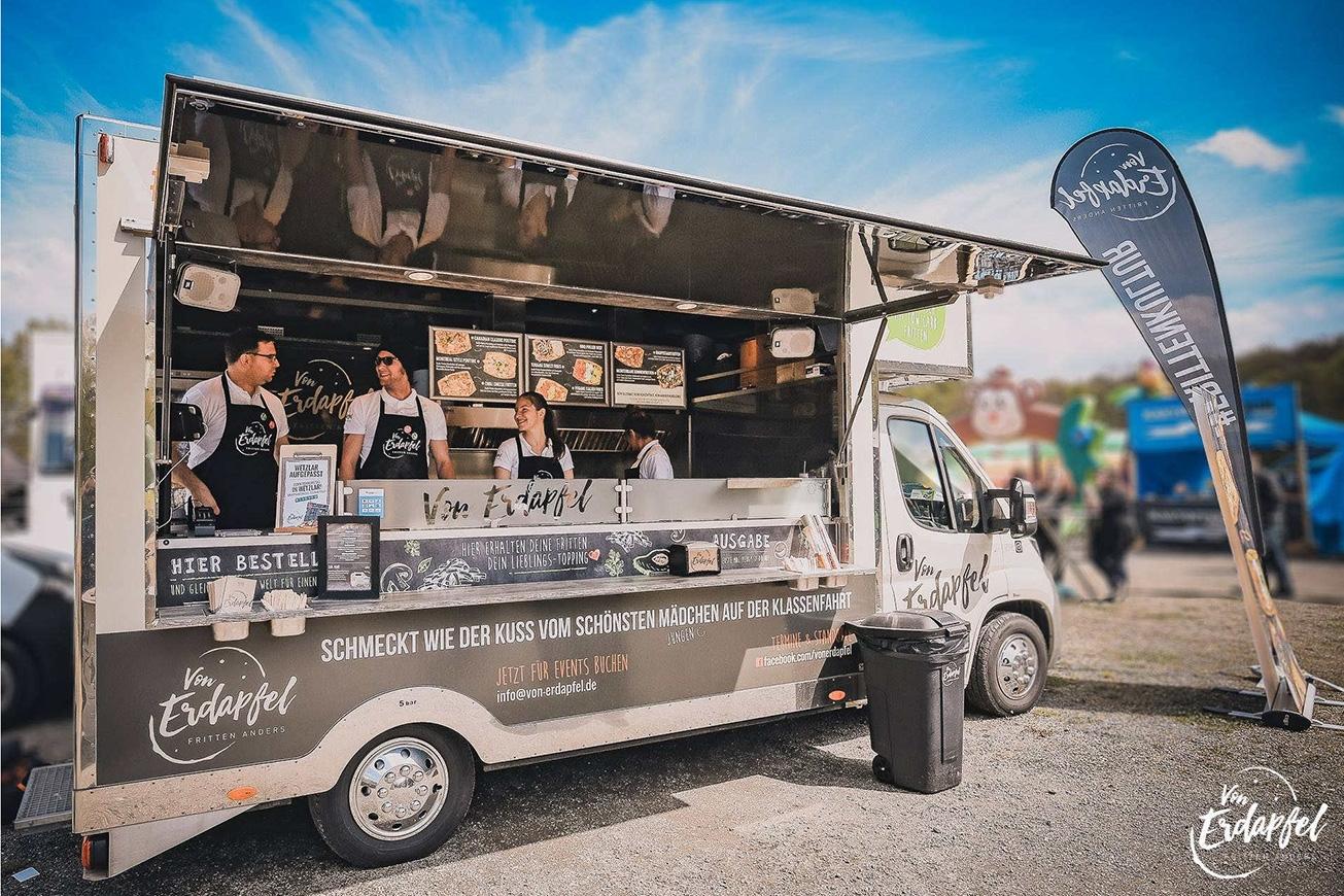 Food Truck Manhattan mit prämiertem Design.