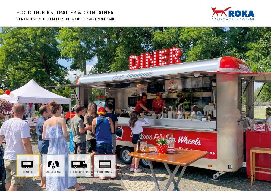 Übersicht über Food Trucks, Imbisswagen, Verkaufswagen und Verkaufscontainer