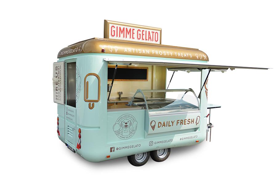 Eiswagen Roadrunner für Eis, Imbiss oder Kaffeeverkauf.