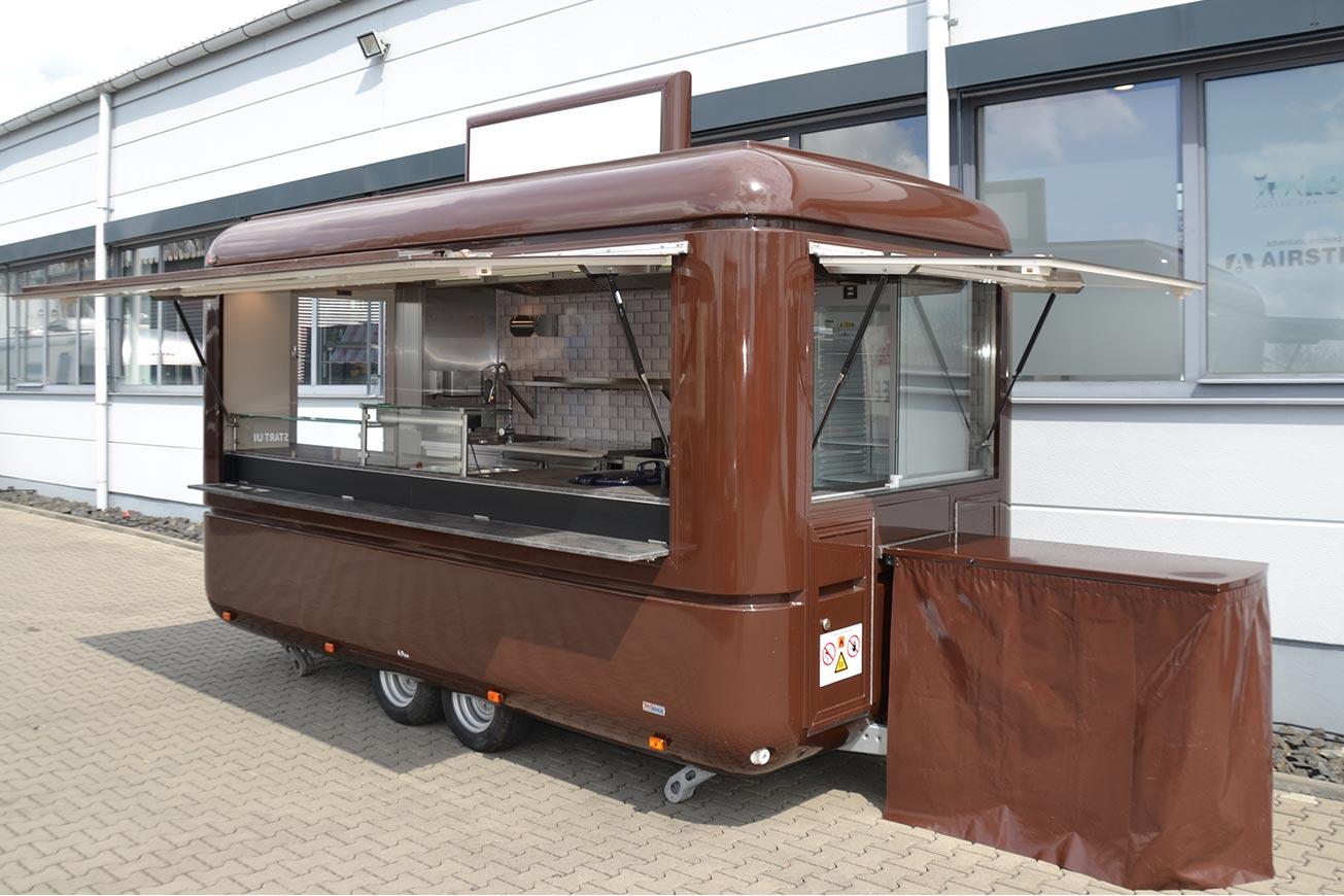 Mieten Sie einen Food Truck oder Imbisswagen.