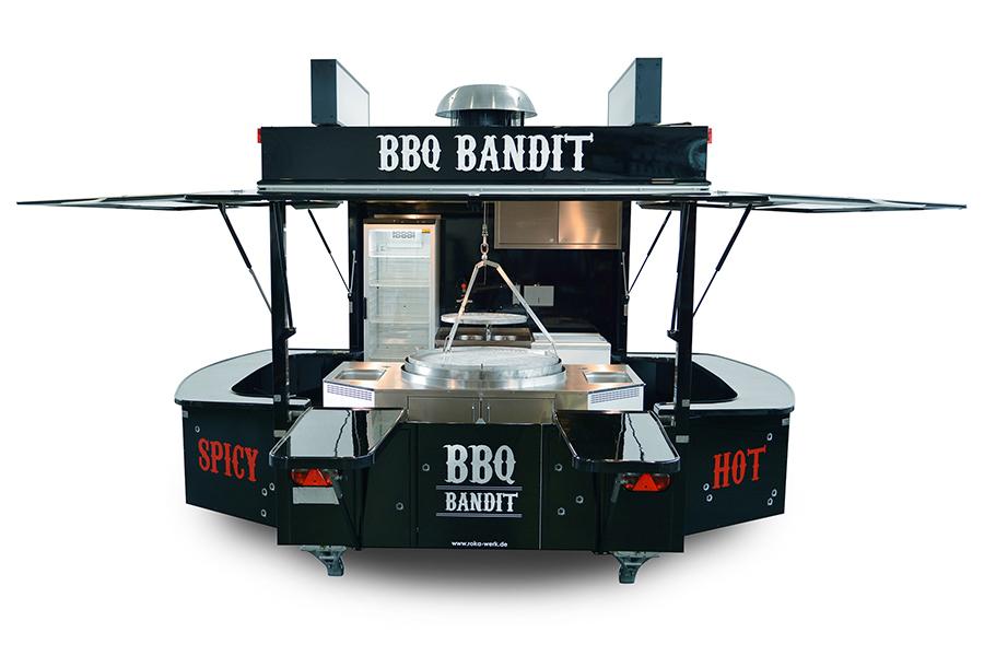 Grillanhänger BBQ in der kleineren Version.