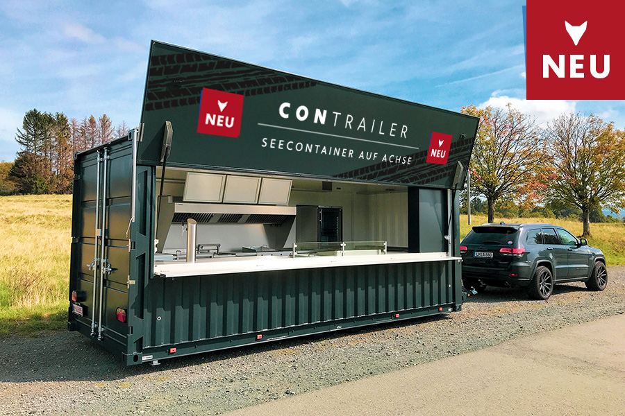 Food Truck im Seecontainer-Look mieten.