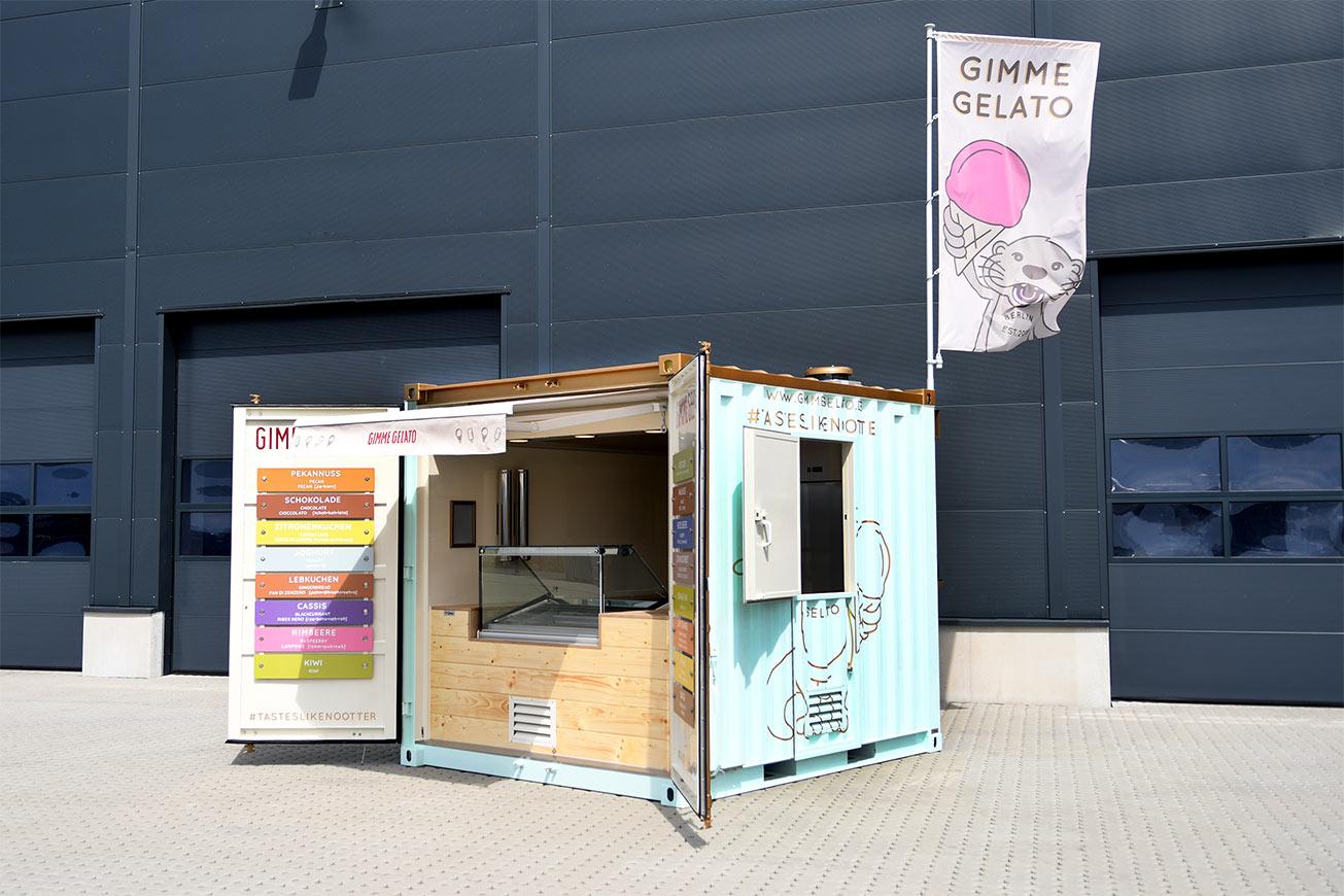 zweifarbiger 10-Fuss-Container für den Eisverkauf