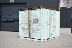 Geschlossener Eiscontainer für Gimme Gelato