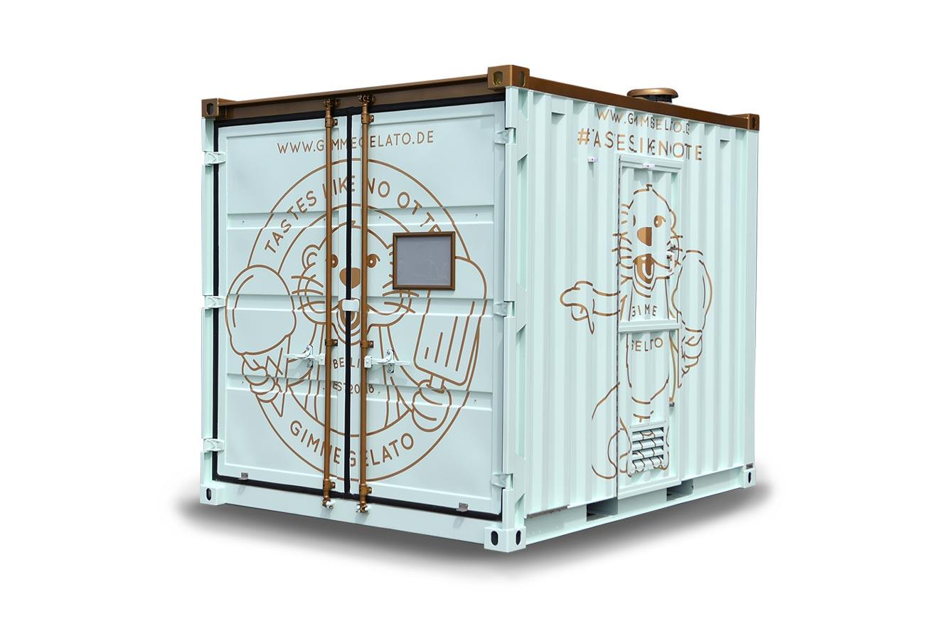 Eis-Container geschlossen