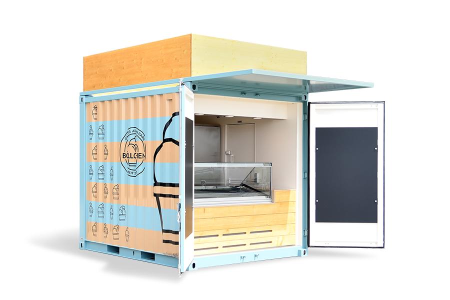 Eis-Container mit optionaler Dach-Werbefläche