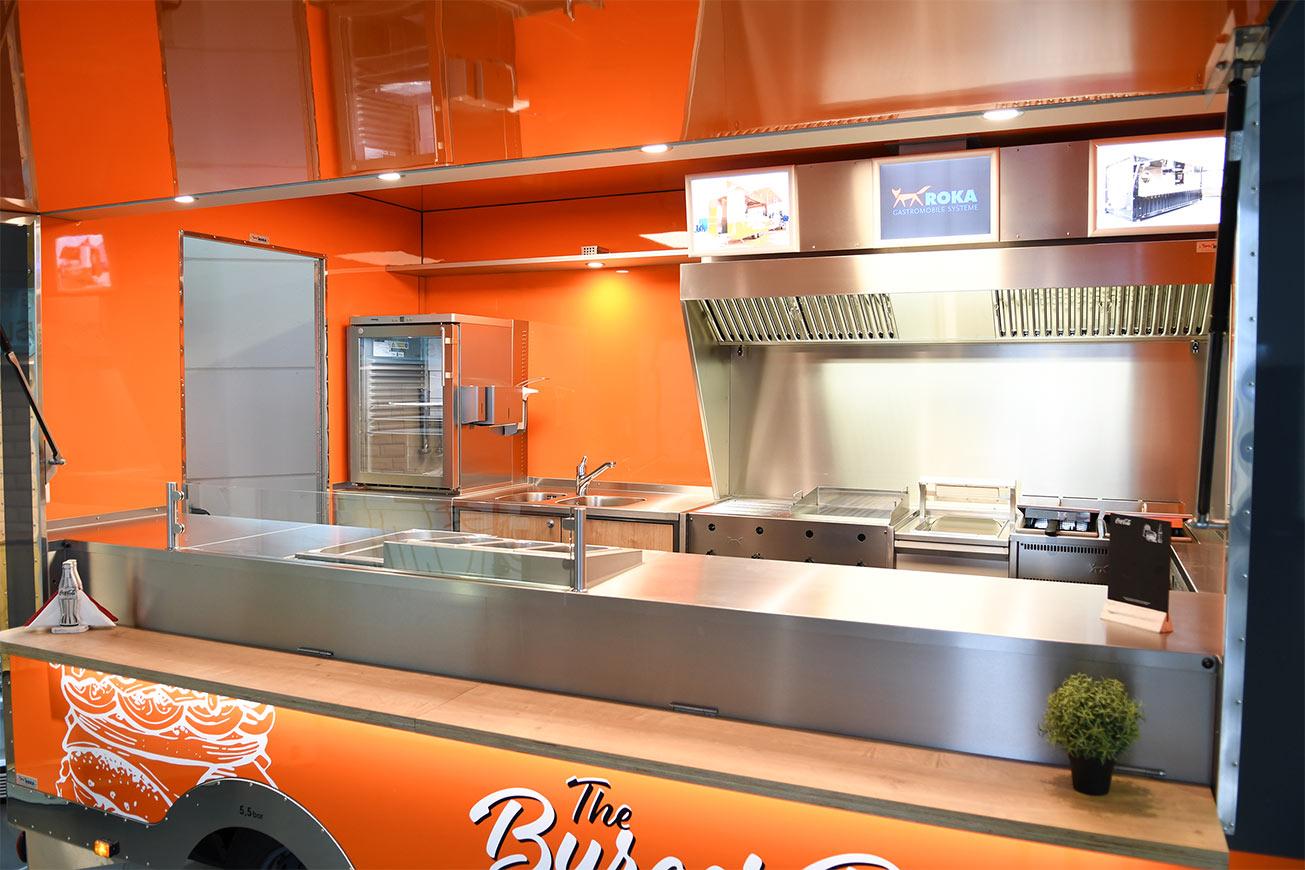 Innenansicht des Food Truck Detroit.