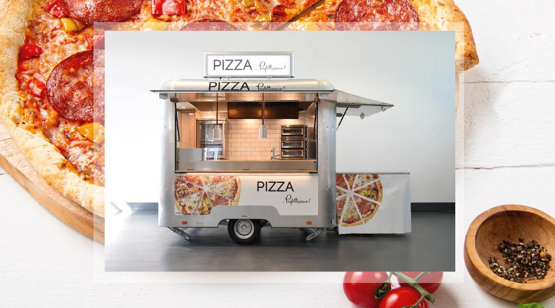 Pizza-Konzept samt Fahrzeug in Kooperation mit Dr. Oetker.