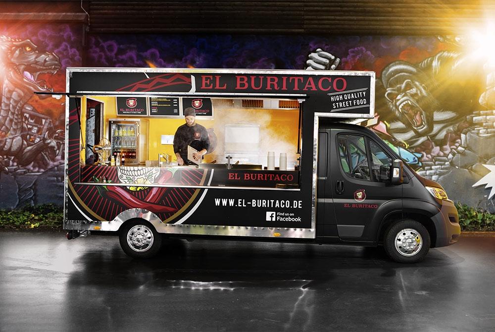 ROKA Food Truck für Tex-Mex-Foodkonzept.