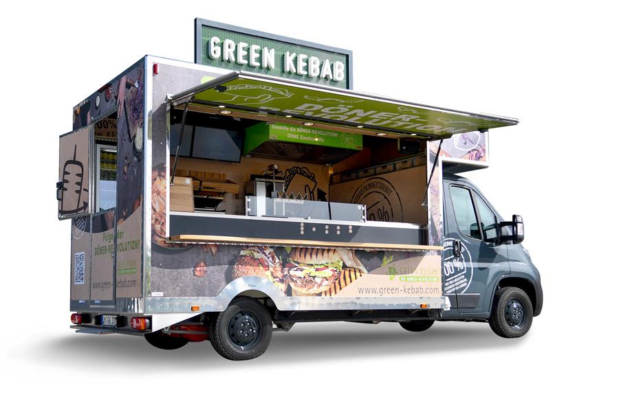 Food Truck für Kaffee und Snacks