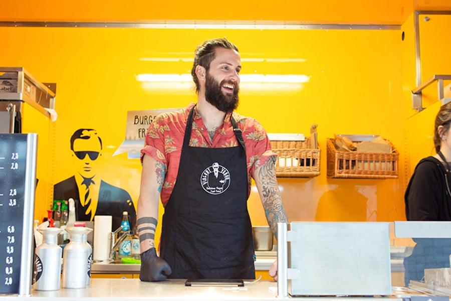 Food Truck für vegane Küche.