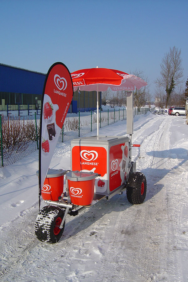 ROKA Elektro-Cart, Eiswagen, mobiler Eisverkauf, Eismobil