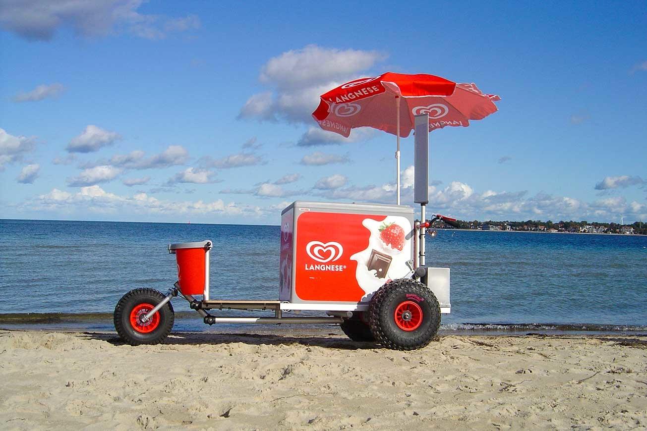 ROKA Verkaufsfahrzeug, Eiswagen, mobiler Eisverkauf, Eismobil