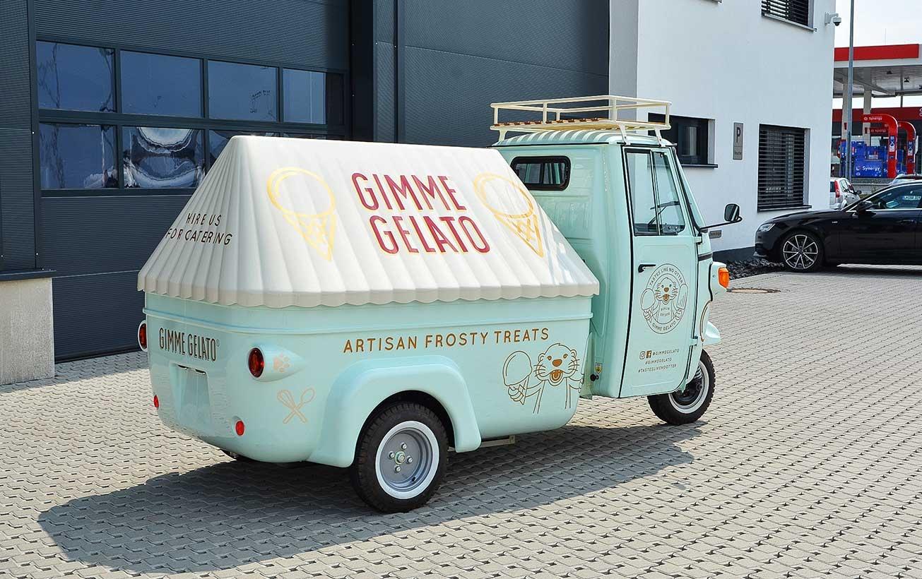 Eiswagen im Retro-Design