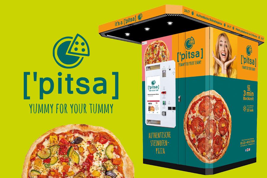 Pizza-Automat für Pizza in 3 Minuten.