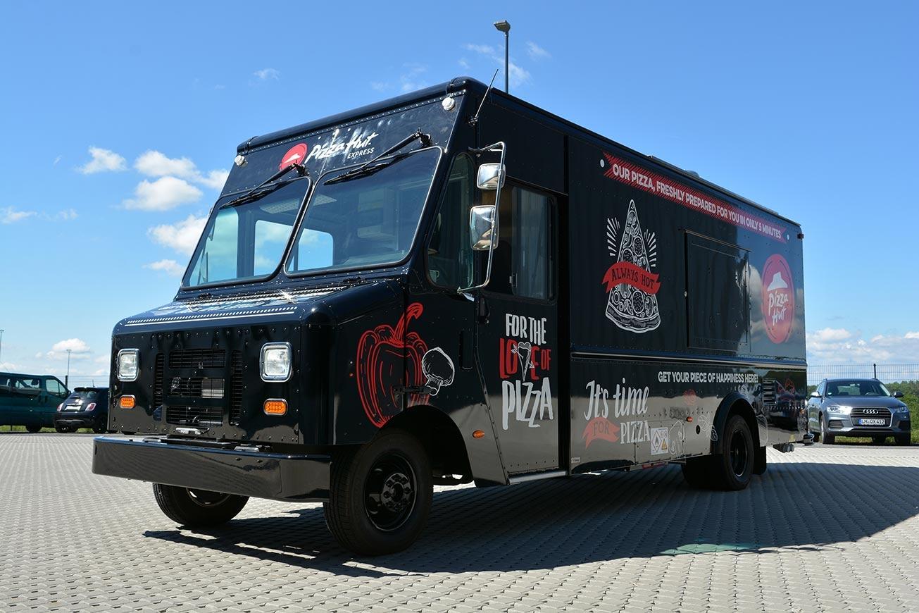 ROKA Food Trucks, Pizza Hut Truck, Verkaufsfahrzeuge, Streetfood