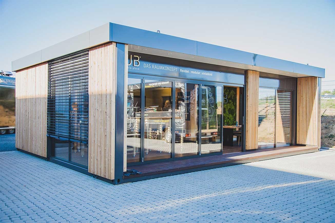 ROKA Premium-Container, Verkaufscontainer, modulare Raumlösung