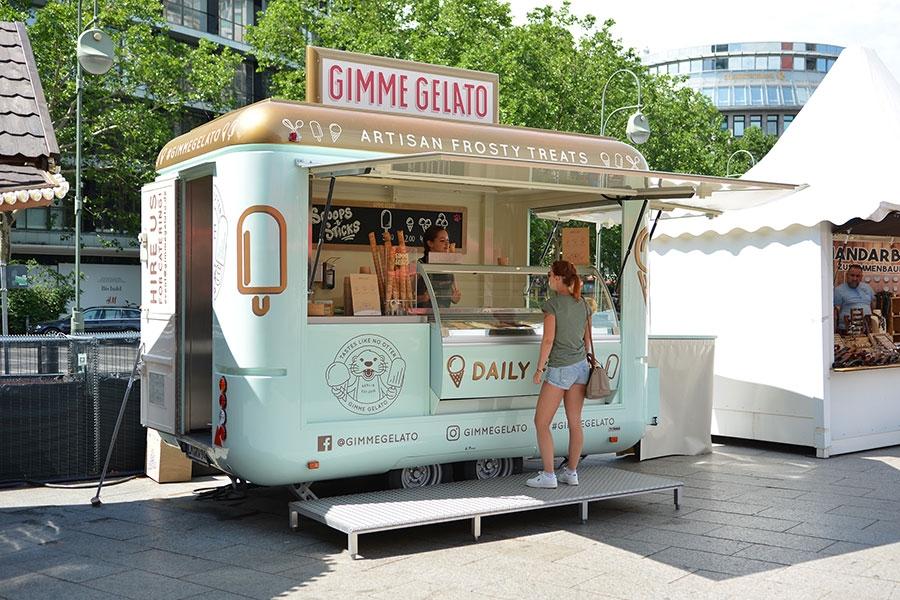 Eiswagen, Eisverkauf, Verkaufsanhänger, ROKA Roadrunner, Gimme Gelato