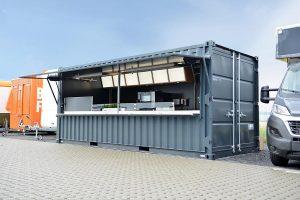 Seecontainer für Catering und als Imbisscontainer.