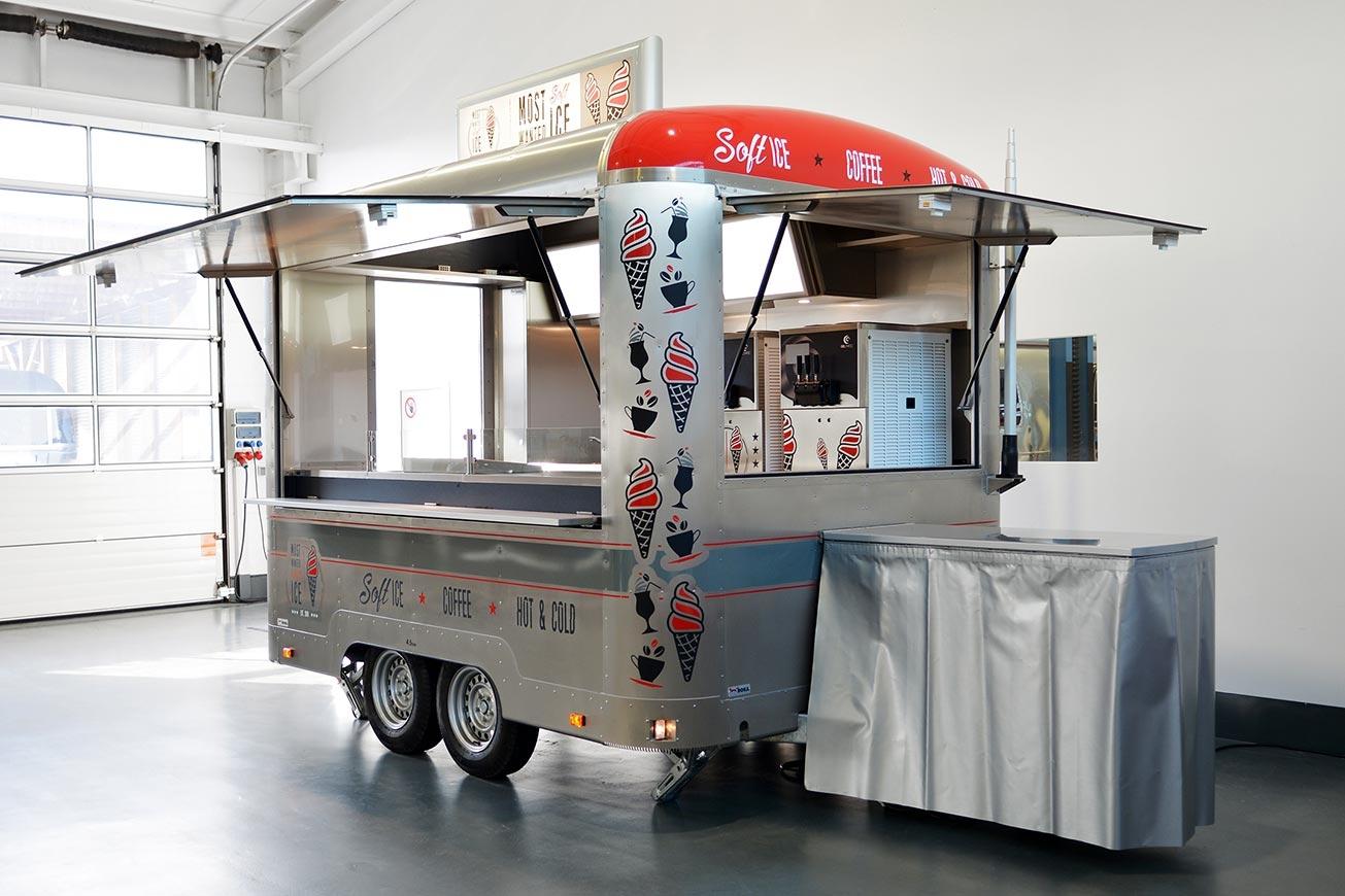 ROKA Verkaufsanhänger, Food Trailer, Eiswagen, Eisverkauf, Eismobil
